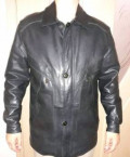 Мужская кожаная куртка balmain, куртка кожанная мужская зима на синтепоне. 48-50, Пятовский