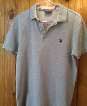 Мужское поло U.S. Polo, мужские розовые футболки