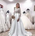 Свадебное платье со шлейфом/атлас, платье для выпускного в сад, Алмазный