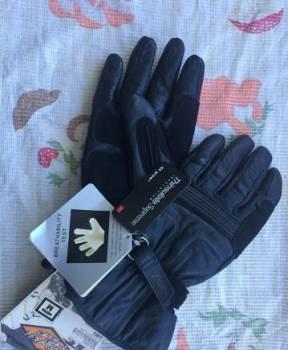 Кожаные перчатки краги