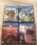 Игры Ps4. Spider man, Detroit, Horizon, Русский Камешкир