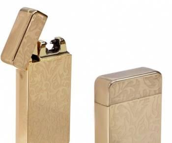Зажигалка USB с другой золотистая
