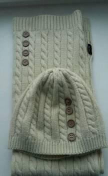 Летние брюки женские в клетку, шапка, шарф
