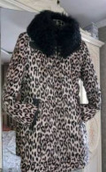 Пуховик 44, пальто с мехом внизу купить, Хабаровск