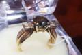 Кольцо золотое с коричневым бриллиантом, Саратов