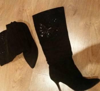 Сапожки женские, купить кроссовки nike черные