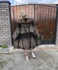 Платье с рукавом на новый год, шуба норковая с соболем, Долгодеревенское