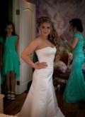 Два образа на невесту, шелковое платье с гипюром, Пенза