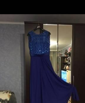 Платье из шелка атласа, выпускное или вечернее платье