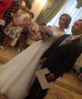 Продам свадебное платье, одежда белый верх черный низ, Котовск