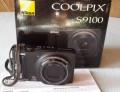 Фотоаппарат Nikon Coolpix S9100 Black, Курьи