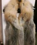 Жилет из лисы цельной, турецкая одежда заказать по интернету, Долгодеревенское