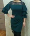 Платье, платье трапеция с воланом на плечах, Тамбов