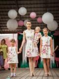 Платье шелк 100 процентов, одинаковые платья famaly look, Новая Усмань