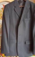 Новый темно-синий костюм, темно синий пуховик с рыжим мехом, Ижевск