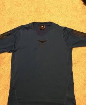 Футболка спортивная Adidas, куртка мужская демисезонная хаки