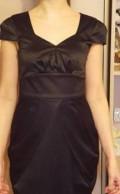 Черное платье с юбкой солнце ниже колен, платье, Воля