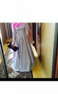 Платье в клетку расклешенное к низу, платье, Буйнакск