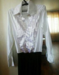 Боди-рубашка для бальных танцев 44р-р, футболка для плавания женская, Тамбов