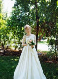 Свадебное платье, платье стильняшка золотое, Новобессергеневка