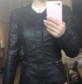 Джинсовая одежда для женщин после 45 лет, куртка кожаная, Урмары