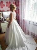 Платье красное молодежное прямого фасона, свадебное платье, Белая Березка