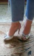 Ботинки на толстом каблуке с платьем, босоножки, Омск