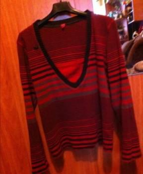 Одежда марки ynev, кофта красная в полоску