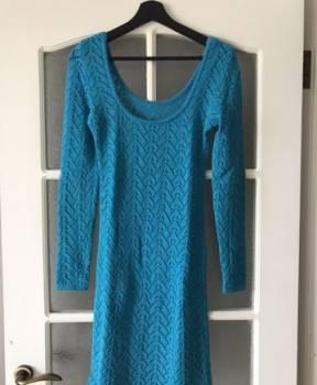 Модель платья футляр с рукавом 3\/4, сексуальное вязанное платье