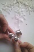 Серебряные сережки и кольцо(размер 17), Городец