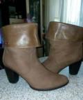 Полусапожки натуральный нобук и кожа, летняя женская обувь на полную ногу, Смоленск