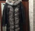 Пальто натуральная кожа с чернобуркой, вечернее платье oksana mukha 15-743-4, Лог
