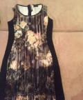 Платье трапеция с рукавом 3\/4 с воланом, платье, Отрадный