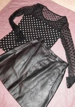 Вайлдберриз платья из шифона, кофточка и кожаная юбка