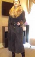 Купить джинсы левис тёмные, стильная дубленка (мех лисы), Средняя Елюзань