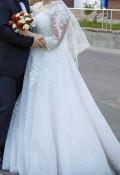 Пальто женское зимнее холлофайбер нат. мех лисицы, свадебное платье, Брянск