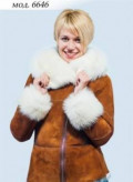 Дублёнка натуральная, женский халат лебеди, Фокино