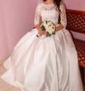 Купить белое осеннее пальто, свадебное платье, Алатырь