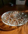 Блюдо для торта хрусталь СССР 27см диаметр, Черноморское