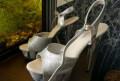 Обувь сникерсы белые, стрипы Pleaser 39 р-р, Обнинск