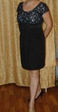 Зимняя верхняя одежда для девушек, продам черно-белое платье в стиле Бэби-Дол, Комсомольск-на-Амуре