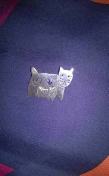 Дизайнерская брошь из серебра (925 проба)