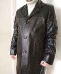 Продам кожаное пальто, костюм боско черно белый, Архангельск