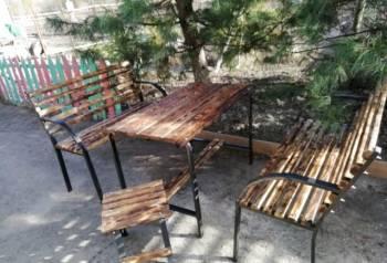 Комплект из двух скамеек и стола. Доставлю