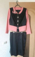 Костюм (жакет + юбка) новый, пижама мужская юлмарт, Мамоново