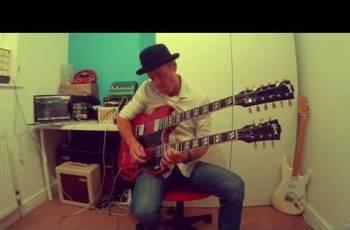 Copy Gibson EDS-1275 Double Neck Heritage Cherry