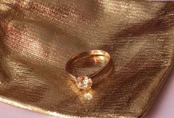 Золотое кольцо Swarovski 585