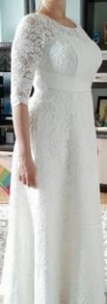 Свадебное платье, платье из кружева прямого силуэта, Стародуб