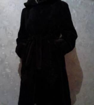 Шуба натуральная, платье из шелка ручной росписи для полных