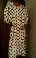 Платье в горошек, платья с баской недорого, Хасавюрт